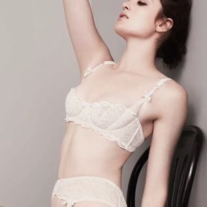 NWT AGENT PROVOCATEUR LOVE DEMI WHITE BRA